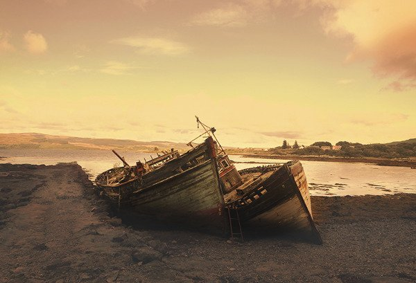 Boats aground